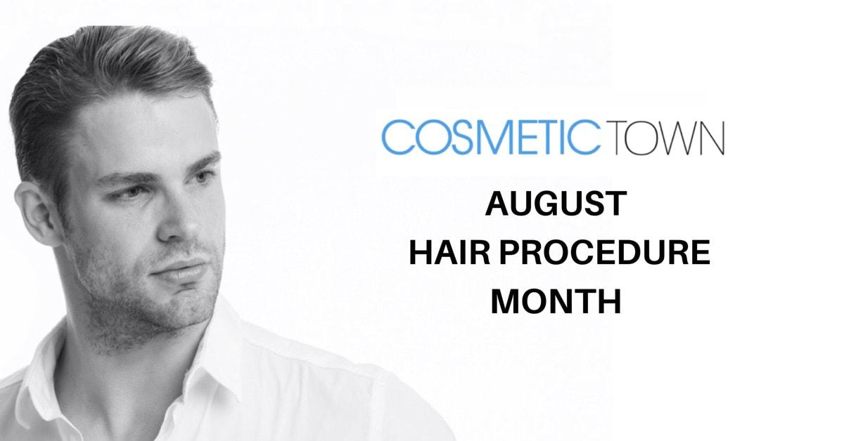 Cosmetic Town spotlights hair restoration methods in August
