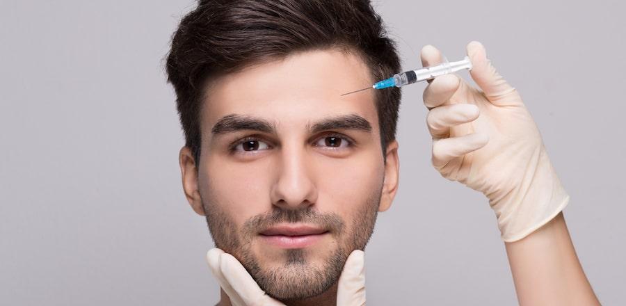 Men getting dermal fillers has become popular