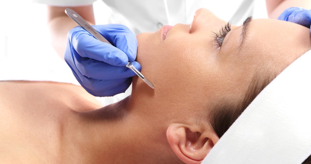 Dermaplaning is a popular hot facial skin rejuvenation