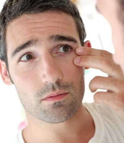 Male eyelid (blepharoplasty) surgery