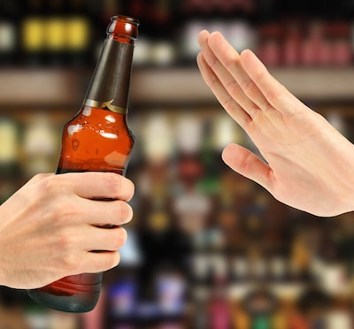 No alcohol before cosmetic surgery